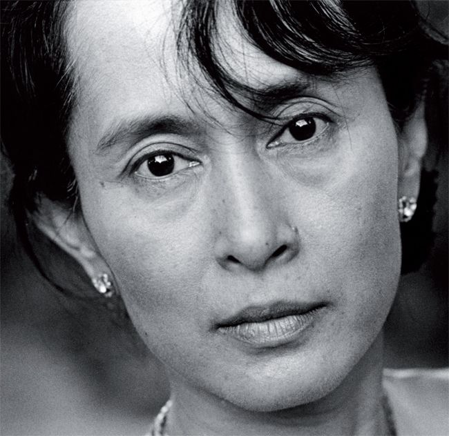 Aung San Suu Kyi, Winner of the Nobel Peach Prize. Heroine of the Burmese opposition.