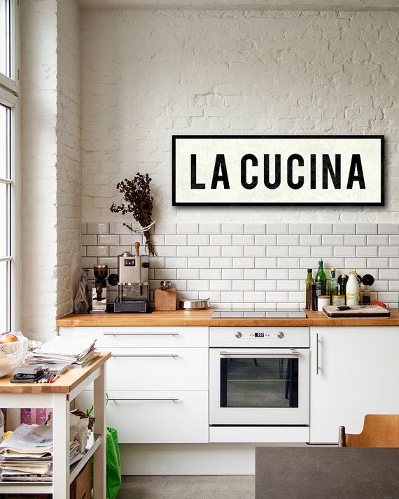 LA CUCINA SIGN Kitchen Sign Italian Kitchen Decor by TransitDesign