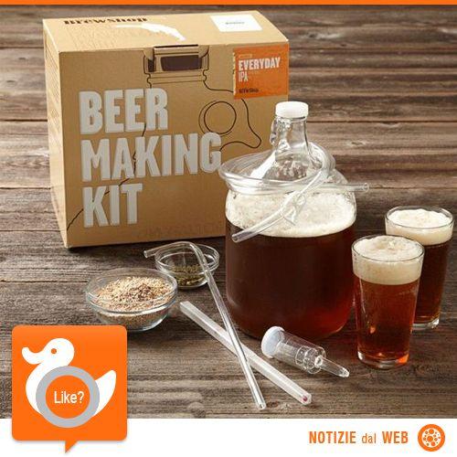 BIRRA FAI DA TE  Ecco un interessante kit per produrre la bevanda da soli nella propria cucina. Ideato da due mastri birrai americani, contiene tutto il necessario per ottenere una birra come quella che vi servono al pub!  http://shots.it/news_item.php?news_id=57&id=11&lang=it