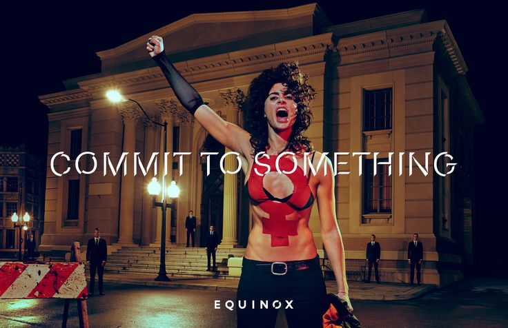 Equinox Visualizing what it means to stand for a cause, this latest ad for Equinox, the operator of upscale gyms and fitness club, features Bianca Van Damme, daughter of actor Jean-Claude Van Damme, as a fearless activist. Read more: https://www.luerzersarchive.com/en/print-ad-of-the-week/2016-3.html Tags: Steven Klein Studio, New York,Wieden + Kennedy, New York,Rajeev Basu,Mathieu Zarbatany,Equinox,Sean McLaughlin,John Parker