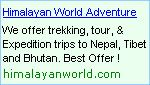 Nepal Trekking, Mountaineering and Expedition Operators - Also offers Rafting, Climbing, Safari, Bungy, Biking, Hotels in Nepal