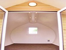 inside a pod at meadow lakes