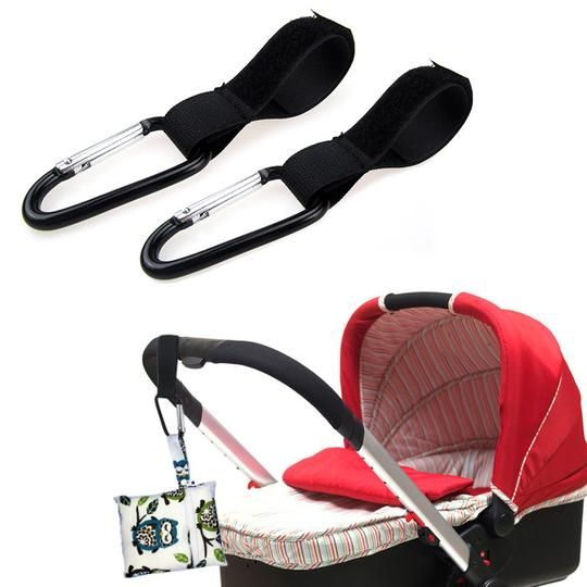 2pcs Baby Wheelchair Pram Carriage Bag Hanger Stroller Accessories Hook Clip