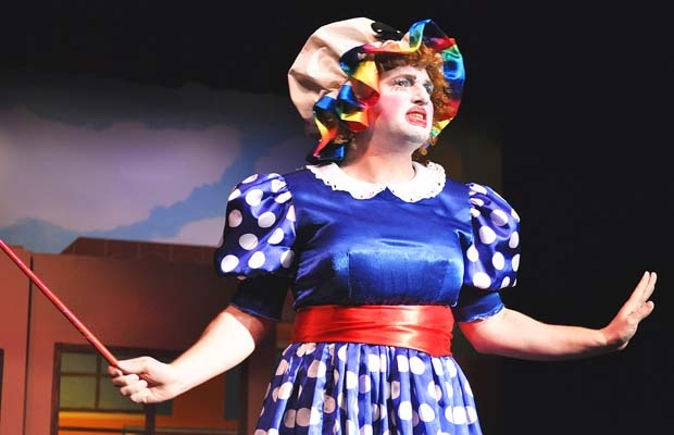 """Bryce Mills as the dame in the panto """"Pinocchio,"""" a White Rock Players' Club production at Coast Capital Playhouse from Nov. 30 to Dec. 29."""