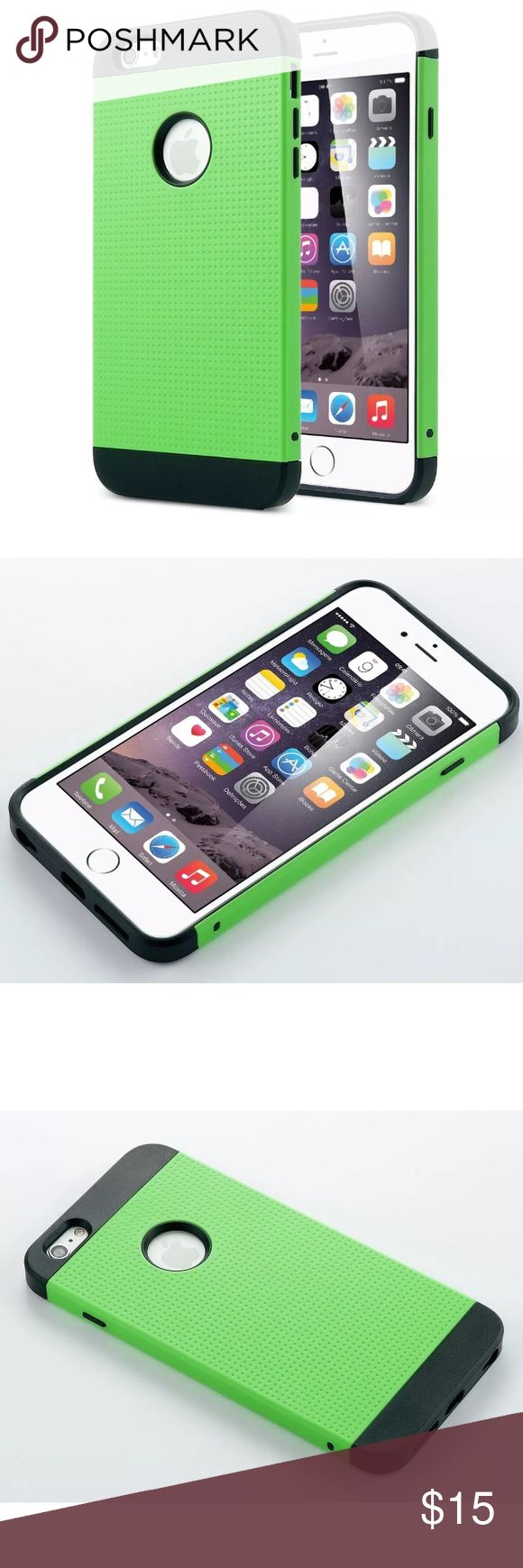 IPhone 6 / 6s + Plus heavy duty 2-piece case GREEN IPhone 6 / 6s + Plus heavy duty 2-piece case. Shown in GREEN!  Comes with a free screen protector, a stylus, and screen wipe cloth ULAK Accessories Phone Cases