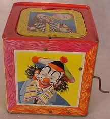 1950's vintage toys - I had two of these Jacking-in-boxes.  Still have one of them.