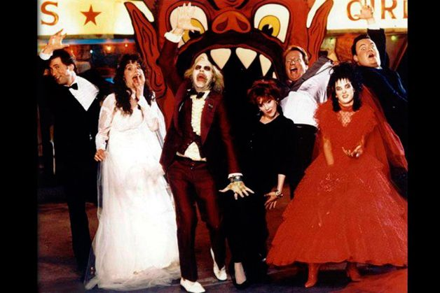 Beetlejuice cast backstage