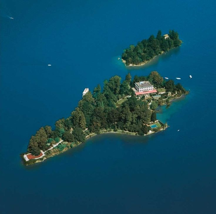 The Isole di Brissago are a group of two islands located in the Swiss part of Lake Maggiore close to Ronco sopra Ascona and Brissago, both in the Distretto di Locarno of Canton Ticino. In the 19th century they were the property of an Anglo-Irishman of the St. Leger family, Richard Fleming, who was married to a Russian-born lady, Antonietta, who developed the gardens at great expense. After the death of her husband, the writer James Joyce visited the island and stayed at her house.