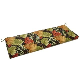 Blazing Needles 54 Inch Tropical Designer Outdoor Bench Cushion