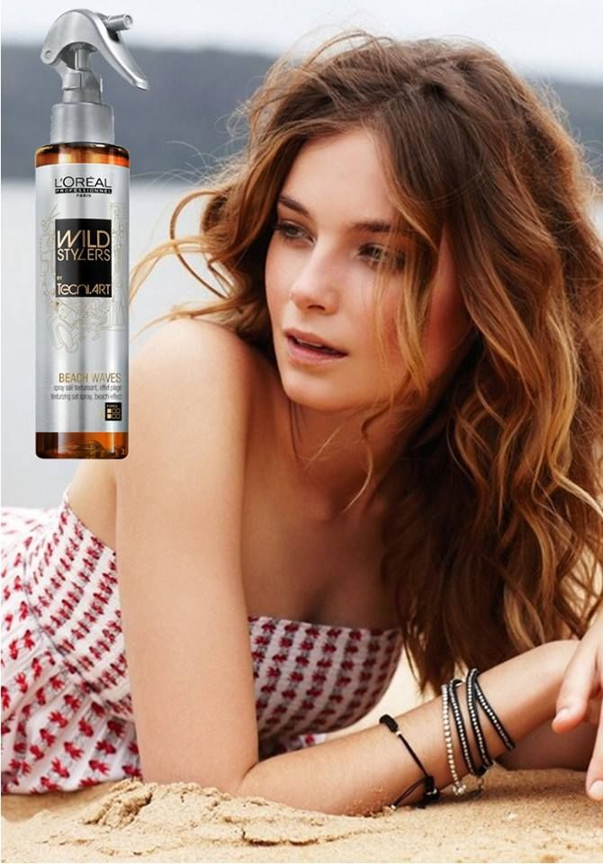 Beach waves l'oreal cheveux mi long