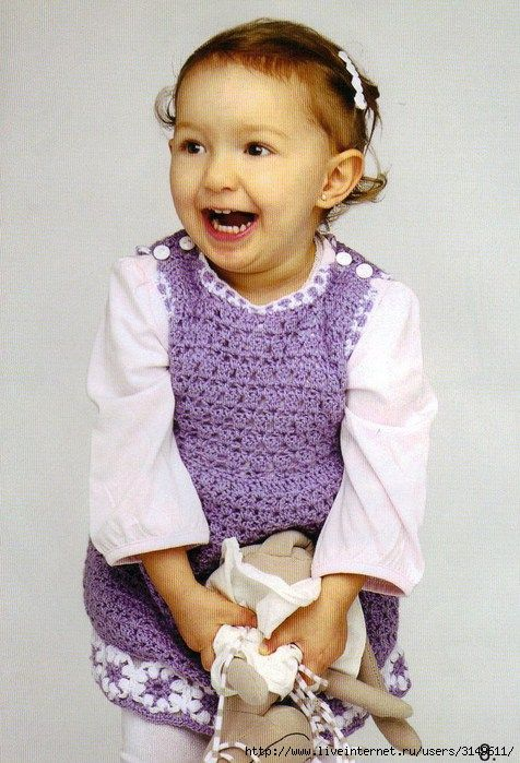 Sarafan dress for girls (hook). Discussion on LiveInternet - Russian Service Online Diaries