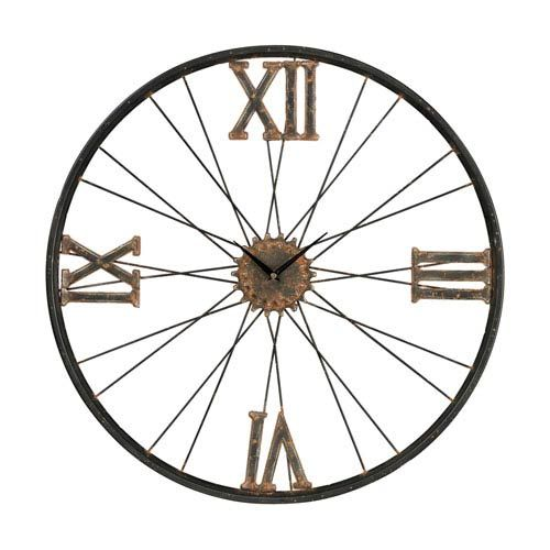 Iron Rust And Bronze 24 Inch Wall Clock Sterling Industries Wall Mounted Clock Clocks