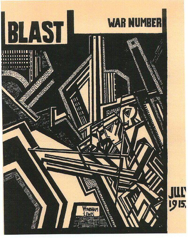 Wyndham Lewis's cover for the Vorticist magazine 'Blast', 1915