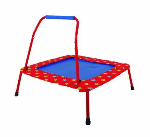 Galt Folding Trampoline (781968500084) Quality controlled to meet the highest standard Galt products are rigorously tested against toy safety regulations For extra safety the padded cover around the mat cushions the frame and prevents children from stepping through the bungee cord The handle simply screws off and the legs fold down for ease of storage Full assembly instructions are enclosed