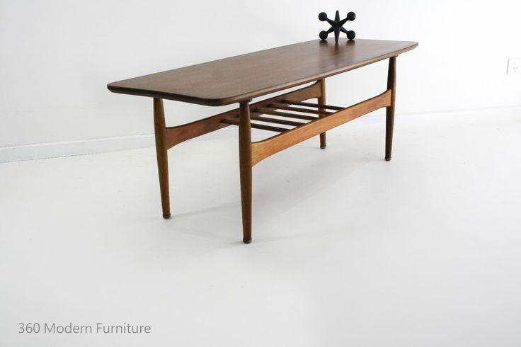 Mid Century Coffee Table Magazine Rack Blackwood Retro Vintage Danish Scandi era | 360 Modern Furniture