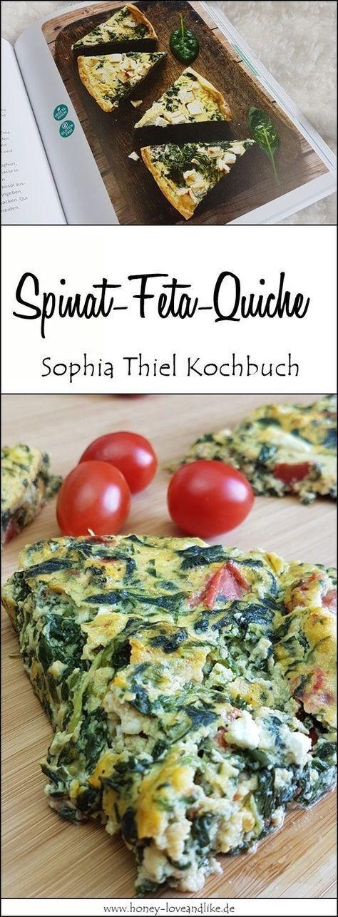 Nachgekocht von Sophia Thiel – leichte lowcarb Spinat-Feta-Quiche. Schmeckt echt gut!