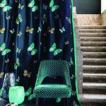 Geborduurde zijde gordijnen van Casamance by Maison Laurey