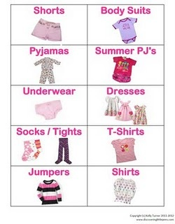 Free labels to help organize girls clothing