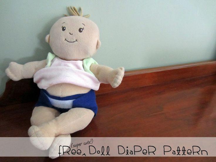 Free doll diaper pattern fits Baby Stella