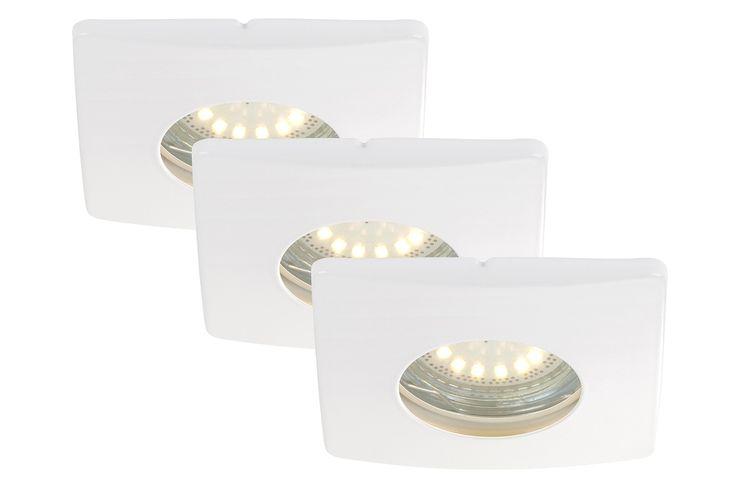 Briloner leuchten lot de 3 spots lED encastrables, spot oscillant, salle de bains, salle de 7239-036 bains blanc: Amazon.fr: Luminaires et Eclairage