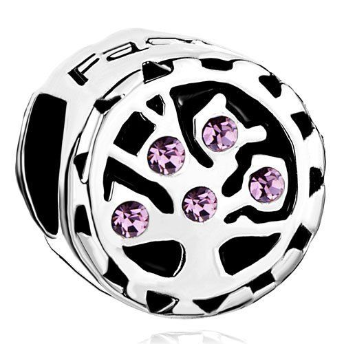Pugster Tree Life Light Purple Crystal Family Love Beads Spacer Charms Bracelets Brands Fits Pandora Charm Bracelet Pugster. $12.49. Color: Light Amethyst. Weight (gram): 4.1. Metal: Silver Stone. Size (mm): 10.18*8.39*10.35