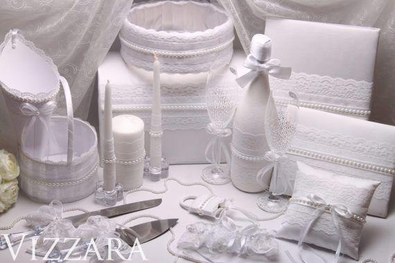 SET wedding ideas Unity Candles Vintage Wedding book Girl Basket Box Wedding Ring Bearer Pillow Wedding White Glasses Gifts wedding Silver