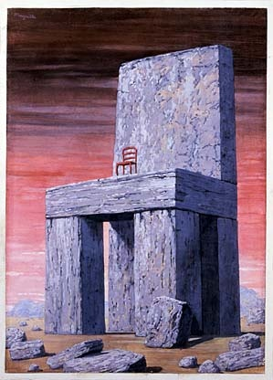 """Those who cannot remember the past are condemned to repeat it.""--George Santayana, The Life of Reason, 1905. From the series Great Ideas of Western Man / ca. 1962 / René Magritte / gouache and pencil on paper mounted on paperboard"