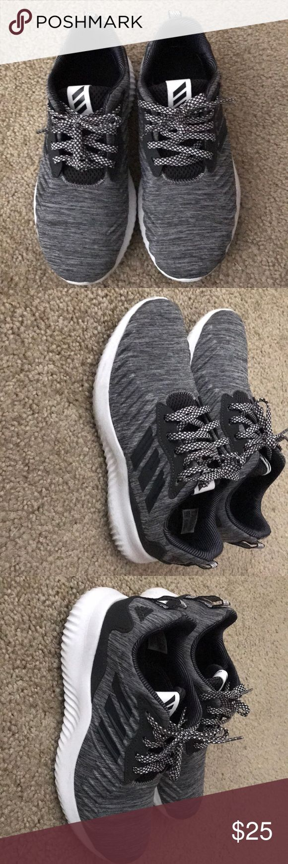 ADIDAS BOUNCE ATHLETIC SHOES Dark grey athletic shoes, barley worn and are in GREAT CONDITION!! adidas Shoes Athletic Shoes