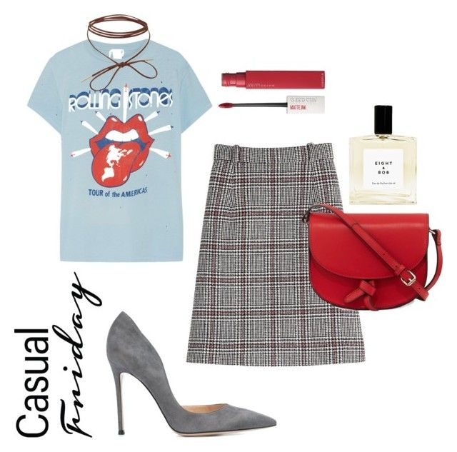 """""""Casual"""" by elshakalaka on Polyvore featuring Gianvito Rossi, MadeWorn, Carven, KC Jagger and Maybelline"""