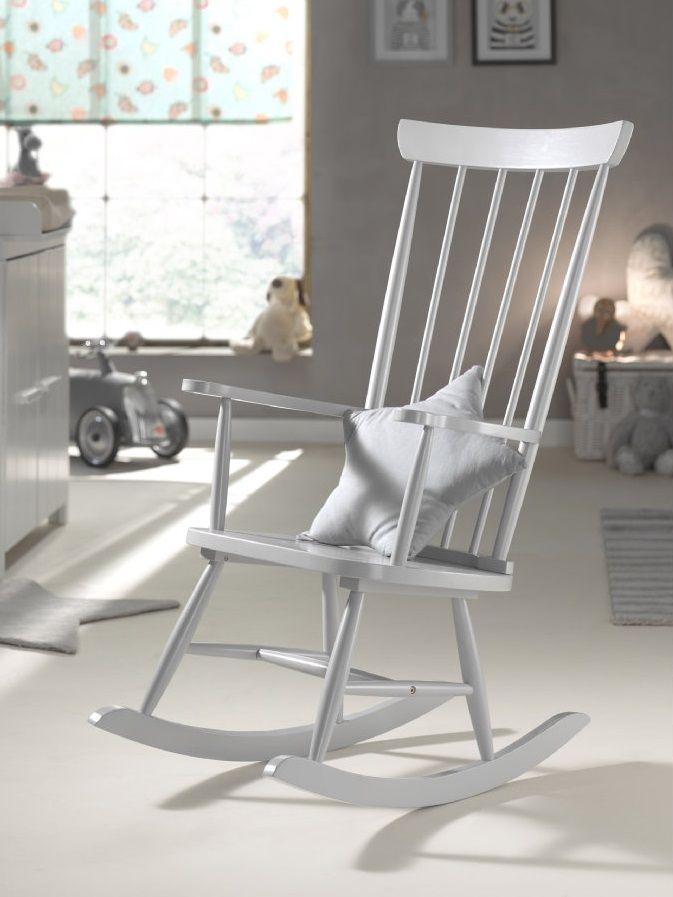 Vipack Schaukelstuhl Grau Rocking Chair Furniture Wood Rocking Chair