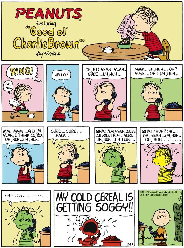 Hate it when this happens. Peanuts for 2/23/2014 | Peanuts | Comics | ArcaMax Publishing