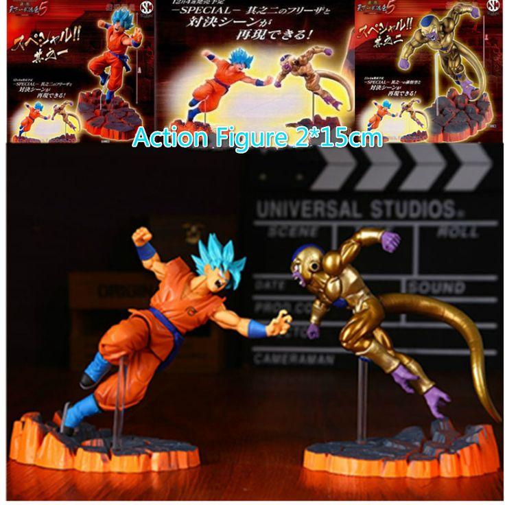 Action Figure LUCKY PIGLET 15cm Dragon Ball Freezer VS Goku Z  Super Saiyan God PVC Model KIDS Toy Gift for children and teenage #Affiliate