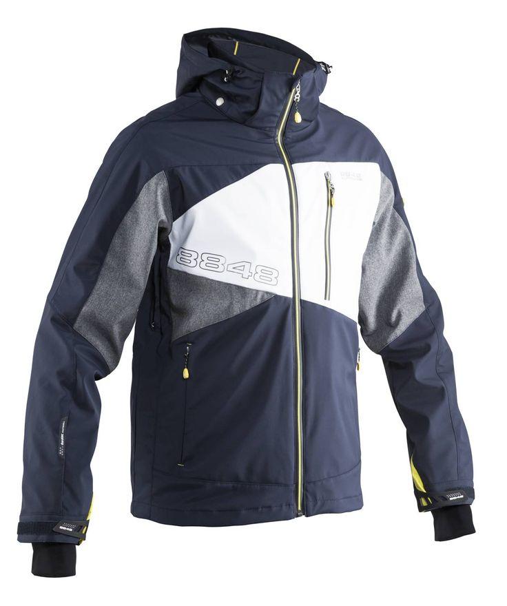 8848 Ronin ski-jack  Description: Het 8848 Altitude Ronin ski-jack is zeer comfortabel doordat het is gemaakt van durAtec SOFTSHELL advanced materiaal wat een excellente prestatie geeft. Het jack is ademend winddicht en waterafstotend en bevat een afneembare sneeuwvanger zodat er geen sneeuw in de jas kan komen. De mouwen zijn verstelbaar dankzij een klittenbandsluiting en ook de zoom is verstelbaar dankzij een trekkoord. Dit ski-jack van 8848 Altitude bevat diverse zakken voor verschillende…