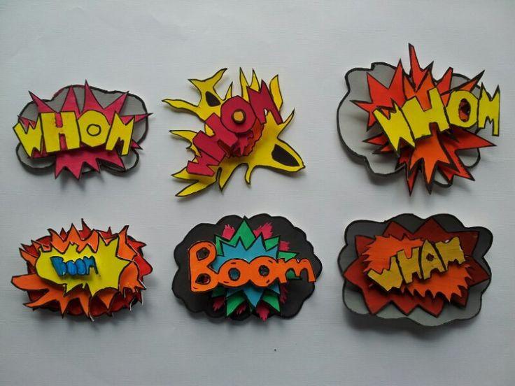 3D-Popart-Explosion In Anlehnung der Gemälde von Roy Lichtenstein entstandene 3D-Collagen.