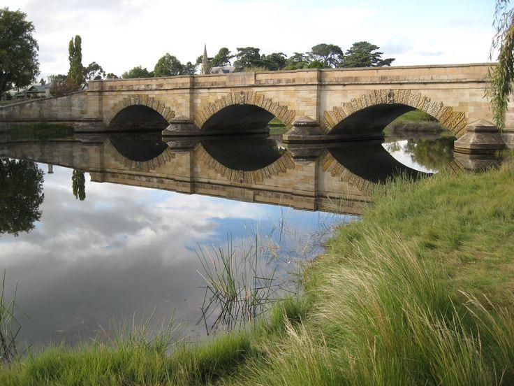 Old Bridge at Ross ..Tasmania.  Australia.