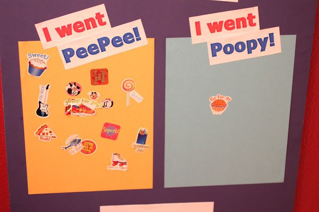 Potty Chart - They get to put a sticker up each time they go AND when the page is full they get a prize!