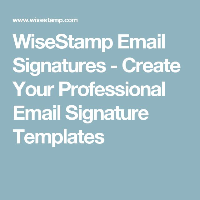 The 25+ best Free email signature templates ideas on Pinterest - email signature template