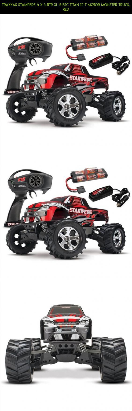 Traxxas Stampede 4 x 4 RTR XL-5 ESC Titan 12-T Motor Monster Truck, Red #drone #kit #traxxas #fpv #technology #camera #racing #plans #kit #shopping #gadgets #parts #products #tech