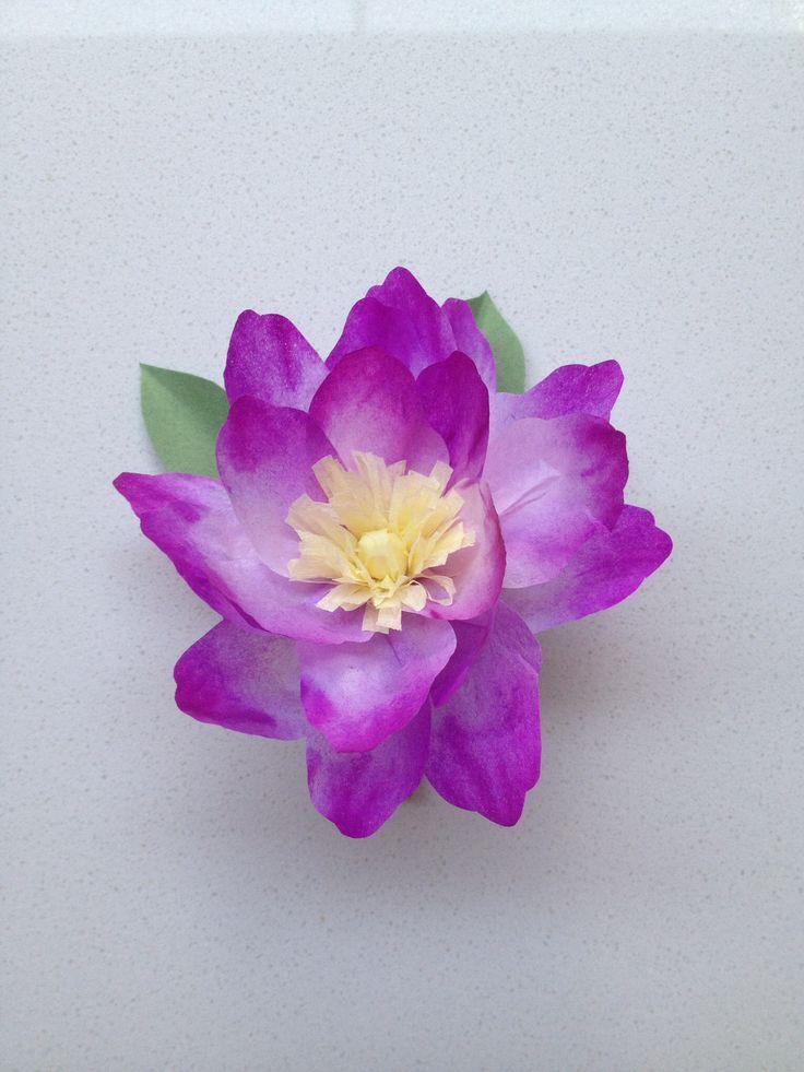 Tissue paper flower buttonhole/gift topper