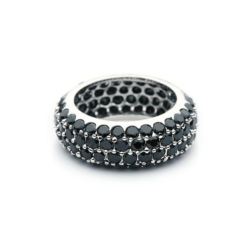Large Stone Maeva Ring with Jet Black crystals