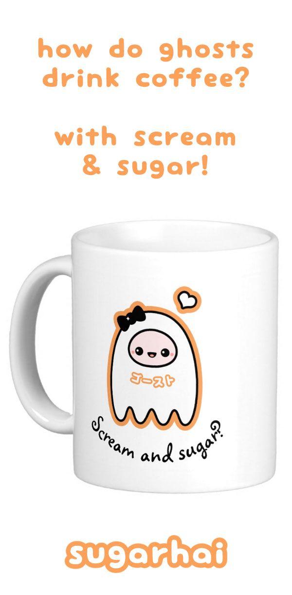 Super Cute Scream And Sugar Halloween Ghost Mugs From Sugarhai. Part 91