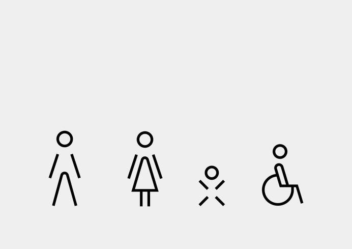Symbols, iconography, wayfinding, icons, in Icons / Symbols