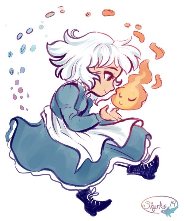 Sophie And Calcifer by sharkie19 on DeviantArt
