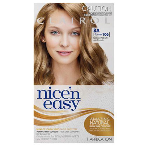 Clairol Nice N Easy Hair Colour Medium Ash Blonde 106 Easy Hair