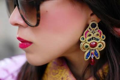 MACADEMIAN GIRL prezentuje się w biżuterii soutache przepysznie.  Macademian Girl wears soutache jewellery and looks really delicious.