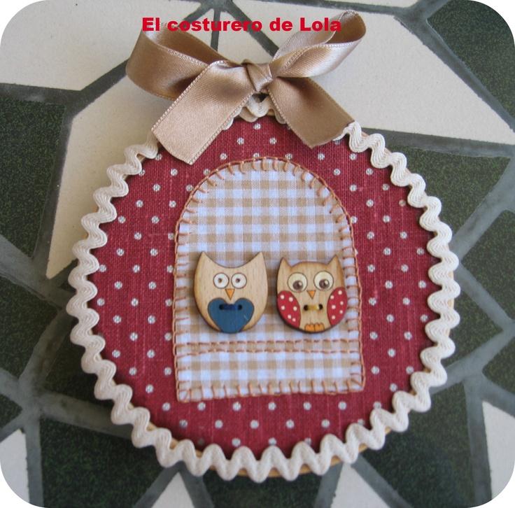 Paareja de búhos Lola, botones y diseño de Gitanitas SN