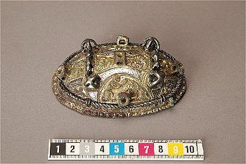 Viking age bronze oval brooch. Björkö, Uppland, Sweden. Bj 550. #birka #bronze #copperalloy #brooch