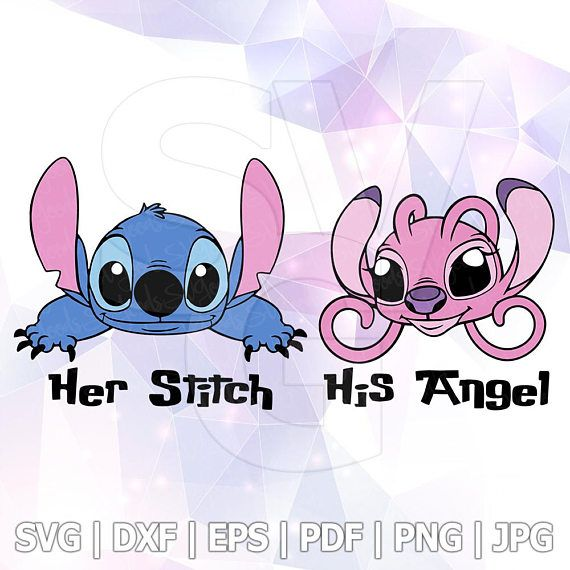 Lilo And Stitch Peeking Her Stitch His Angel Layered Svg Dxf Eps Vector Silhouette Cricut Cameo Viny Stitch Drawing Lilo And Stitch Stitch And Angel