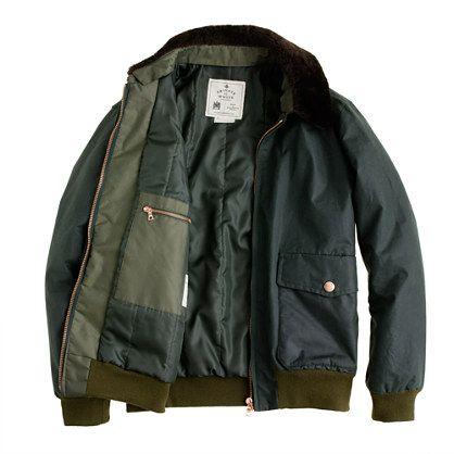 JCrew Private White V.C.™ waxed flight jacket