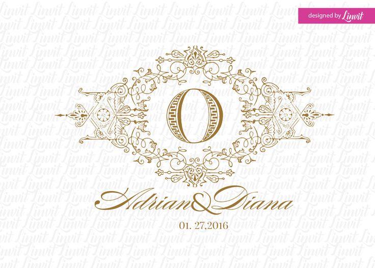 Luxury Wedding monogram-wedding logo-wedding crest-custom wedding monogram-signo-monograma-monograma de la boda-signo de la boda- by Linvit on Etsy